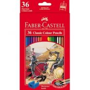 مداد رنگی طرح کلاسیک جعبه مقوایی تخت با مداد شش وجهی ۳۶ رنگ