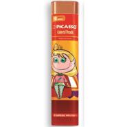 مداد رنگی 12 رنگ سه گوش فلزی پیکاسو؛ طرح دختر