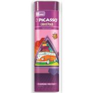 مداد رنگی 24 رنگ سه گوش فلزی پیکاسو؛ طرح اتوبوس