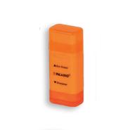 تراش + پاک کن مستطیلی ارگو نئون نارنجی پیکاسو