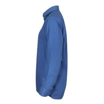 پیراهن آبی مردانه دکمه دار