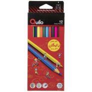 مداد رنگی 12 رنگ جعبه مقوایی کوئیلو