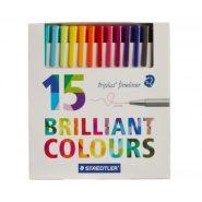 روان نویس نوک نمدی 15 رنگ استدلر