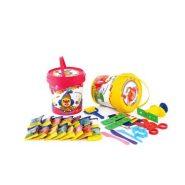 خمیر بازی 15 رنگ سطلی پلمپ دار آریا
