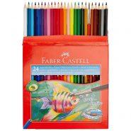 مداد رنگی24رنگ آبرنگی مقوایی